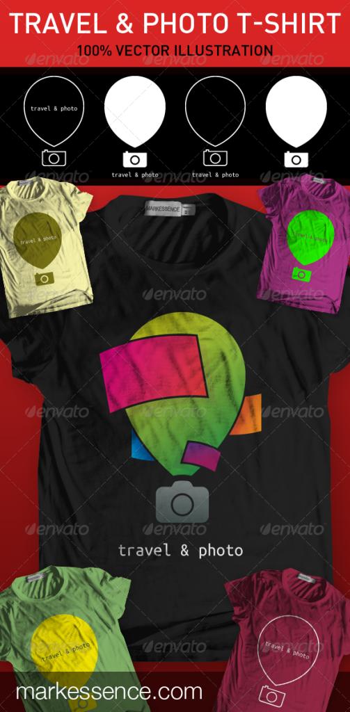 Travel & Photo T-shirt - Clean Designs