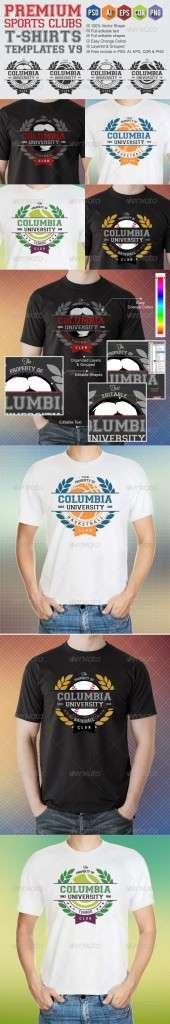 Premium Sports Clubs T-Shirt Templates v9 - Sports & Teams T-Shirts