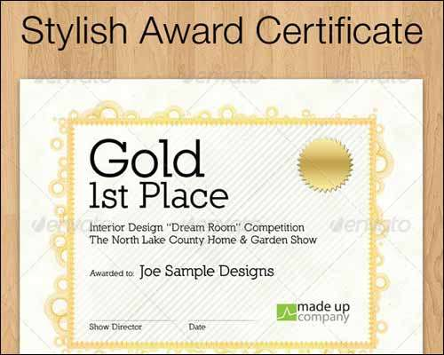 25 most popular certificate diploma templates 2014 freakify stylish award certificate template yadclub Choice Image
