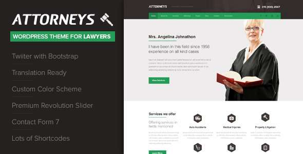 Attorney - Corporate WordPress Theme - Corporate WordPress