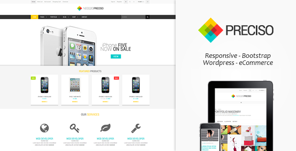 Preciso - Responsive E-Commerce Theme - WP e-Commerce eCommerce