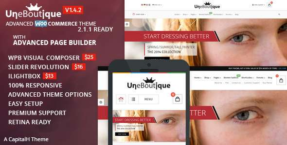 Une Boutique - Advanced WooCommerce Theme - WooCommerce eCommerce