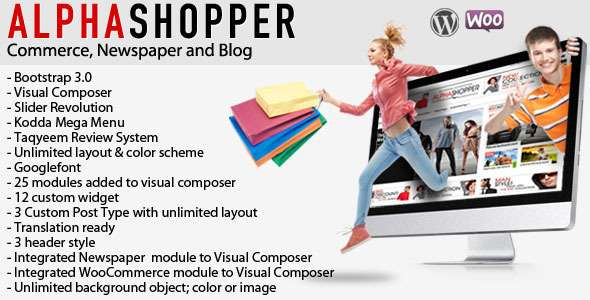 Alphashopper - Clean Newspaper and WooCommerce WP - WooCommerce eCommerce