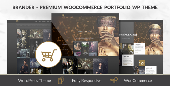 Brander - Premium WooCommerce Portfolio WP Theme - eCommerce WordPress
