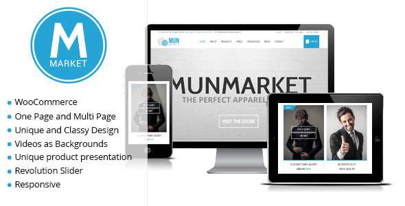 Munmarket - A One and Multi Page Ecommerce Theme - WooCommerce eCommerce