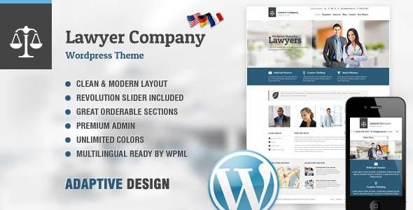 Lawyer: Multi-Purpose Adaptive WordPress Theme - Corporate WordPress