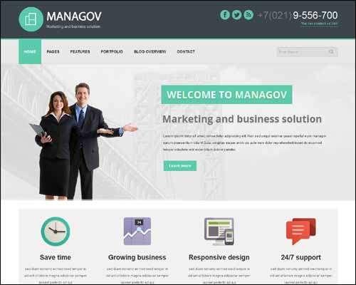 Managov Multi Purpose Flat Corporate Business WordPress Theme image