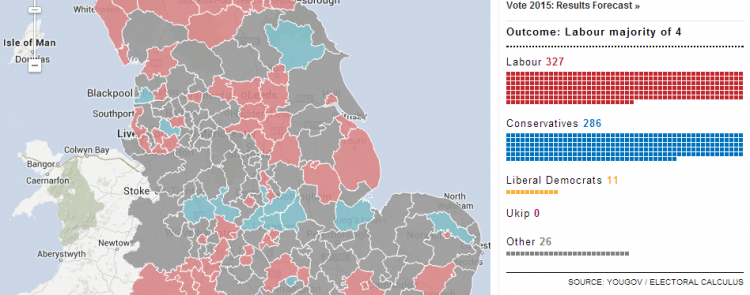Partial screen capture of the interactive map One in four Tory councils defy David Cameron's tax freeze