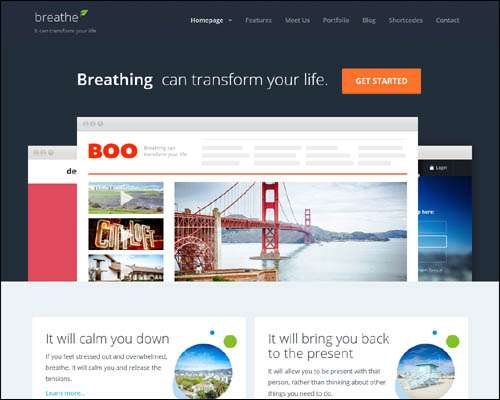 breathe responsive multipurpose wordpress business theme image