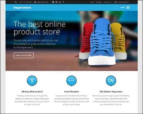 department multipurpose ecommerce theme image