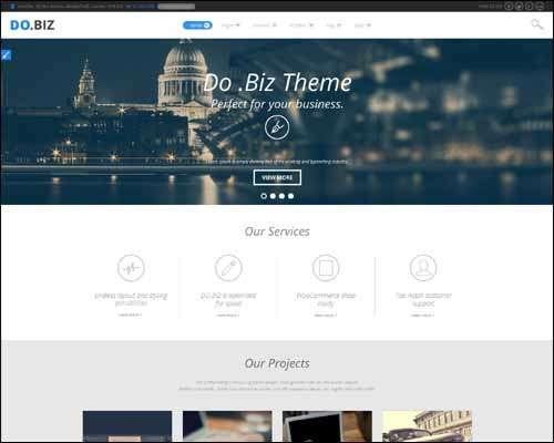 dobiz business and flat wordpress portfolio business theme image