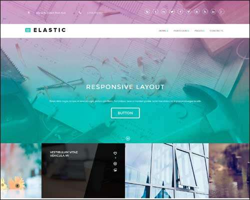 elastic flat wordpress business ecommerce theme and page builder image