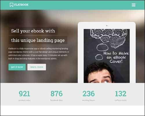 flatbook onepage wordpress landing pagewp portfolio theme image