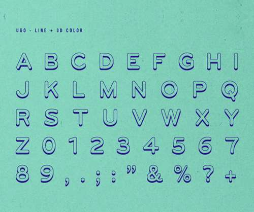 UGO Free Font
