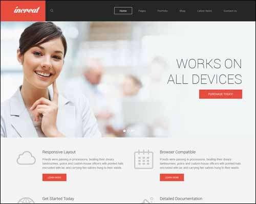 increat responsive multipurpose business ecommerce wordpress theme image