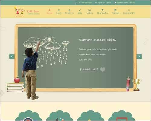 kids zone responsive ecommerce wordpress flat children theme image