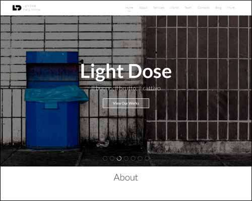 lightdose flat minimal wordpress portfolio theme image