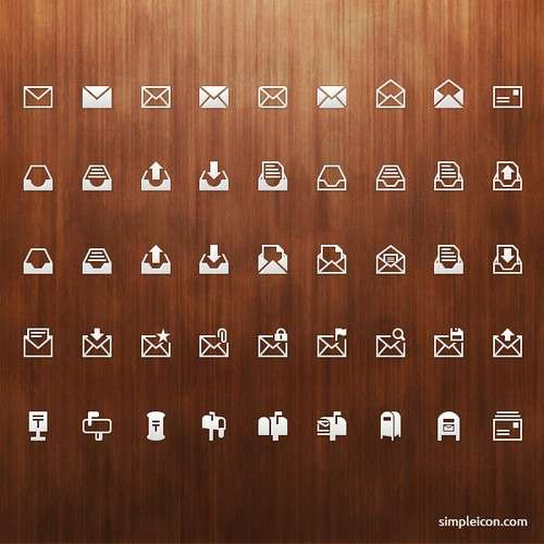 mail-icon-set