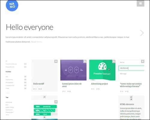 nano responsive portfolio and blog theme image