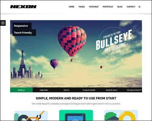 nexon business wordpress theme image