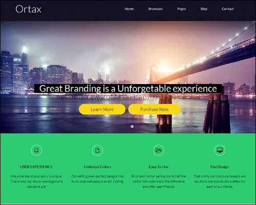 ortax wordpress multipurpose wp portfolio template image