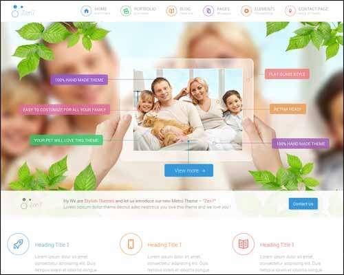 zen7 premium multipurpose wordpress corporate theme image