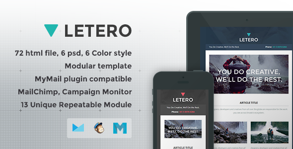 Letero - Responsive Email Template - Newsletters Email Templates
