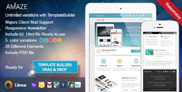 25 Best Premium Responsive Email Templates Freakifycom