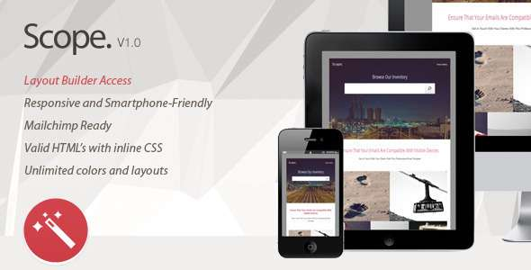 Scope. Multipurpose Responsive Email Template - Catalogs Email Templates