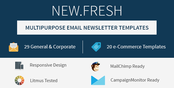 New.Fresh - Responsive email newsletter templates - Email Templates Marketing