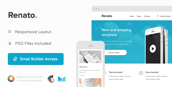 Renato - Responsive Email + Themebuilder  - Email Templates Marketing