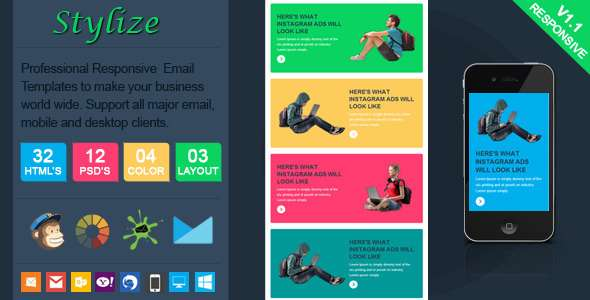 Stylize - Stylish Responsive Email Template - Email Templates Marketing
