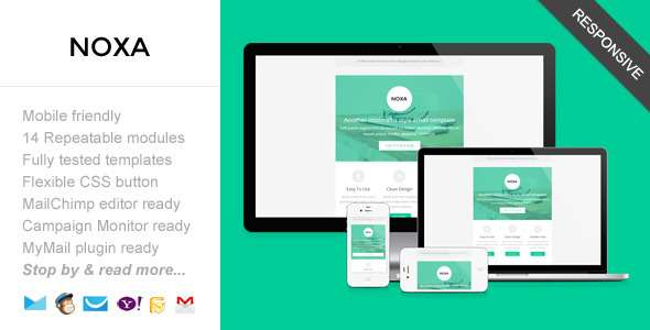 Noxa, Responsive Minimalist Email Template - Email Templates Marketing