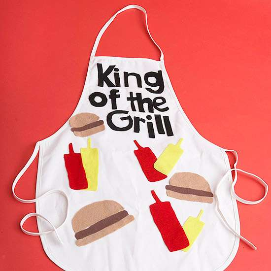 'King of the Grill' Apron for Dad