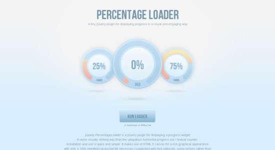 15. Percentage Loader