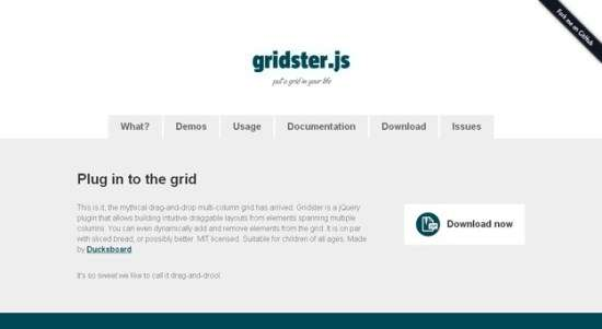 17. Gridster
