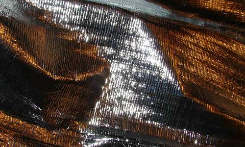 Metallic Silver Foil Texture