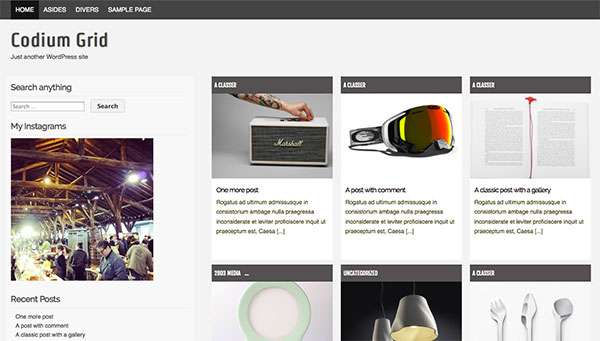 Codium grid new free wordpress themes