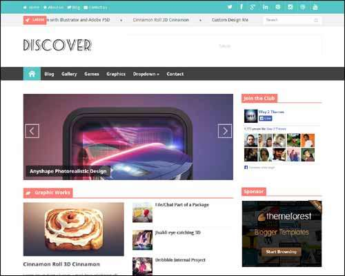 Discover Responsive Free Blogger Template image