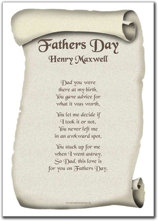 Inspiring Collection of Father's Day Poems 2014 : Freakify.com Fathers Day Poems From Daughter