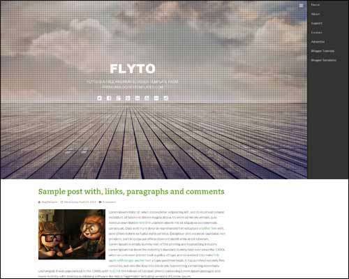 Flyto Free Blogger Template image
