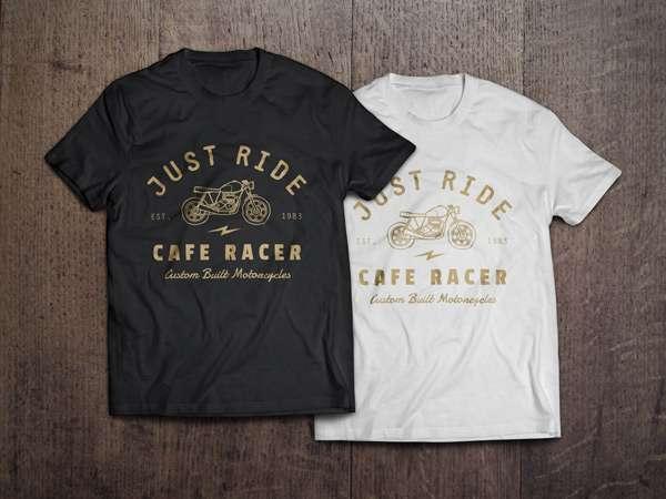 Free T-shirt PSD mockup.