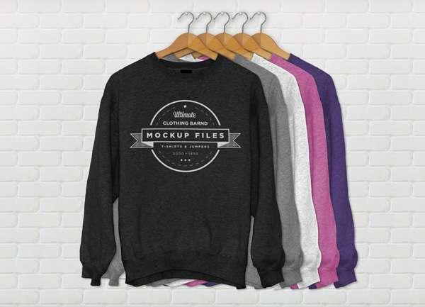 Free sweatshirt PSD mockup.