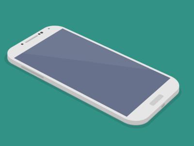 Free Galaxy S4 3D PSD mockup.