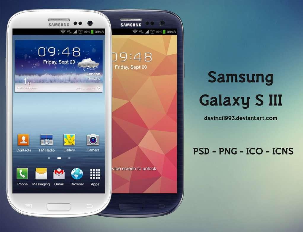 Free Galaxy S3 PSD mockup.