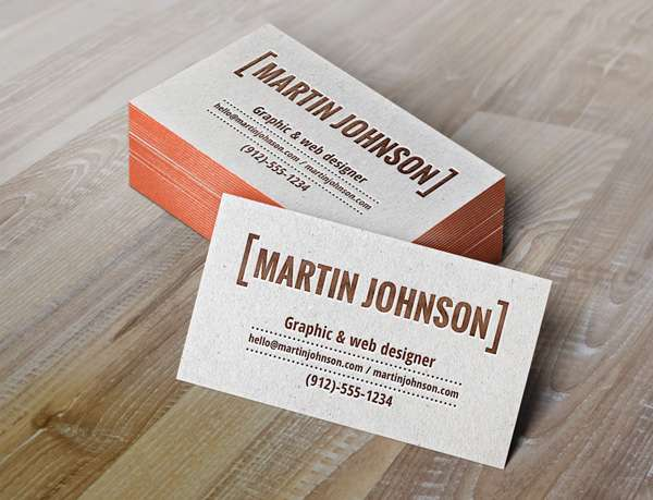 Free business card PSD mockup.