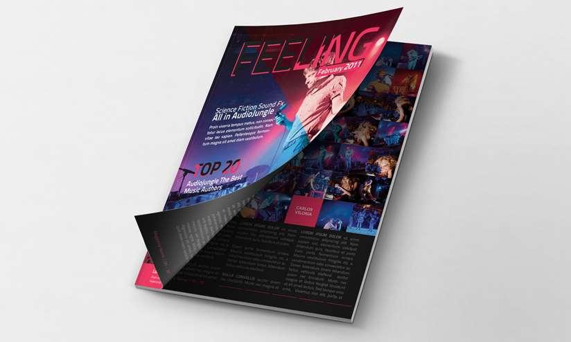 Free magazine PSD mockup.