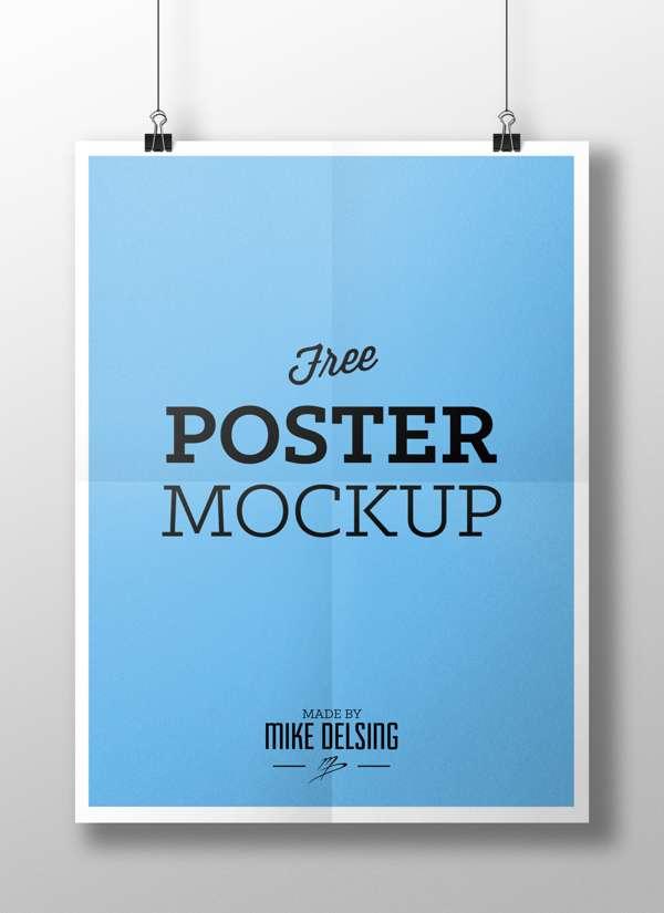 Free poster PSD mockup.