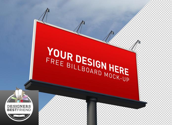 Free billboard PSD mockup.