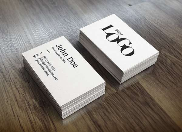 Free business cards PSD mockup.